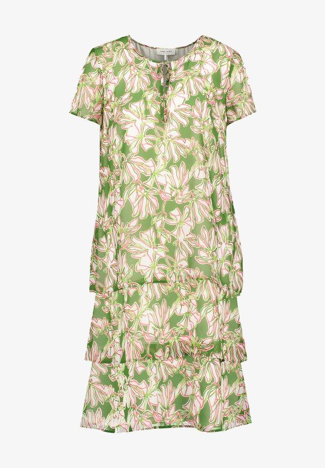 Korte jurk - palm white azalea druck