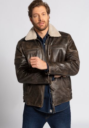 Leather jacket - braun