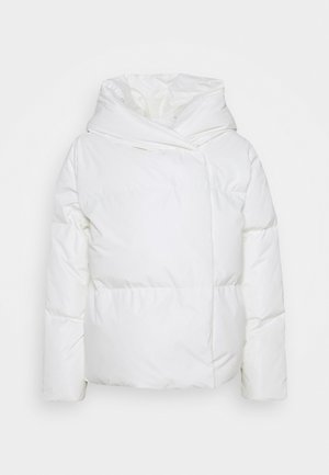 COCOON DOWN WRAPJACKET - Bunda z prachového peří - white