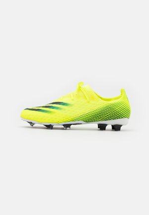 X GHOSTED.2 FG - Moulded stud football boots - solar yellow/footwear white/royal blue