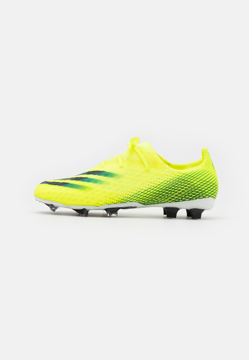 adidas Performance - X GHOSTED.2 FG - Kopačky lisovky - solar yellow/footwear white/royal blue