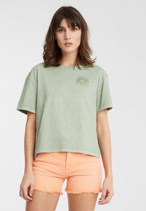 LONGBOARD  - Print T-shirt - light green
