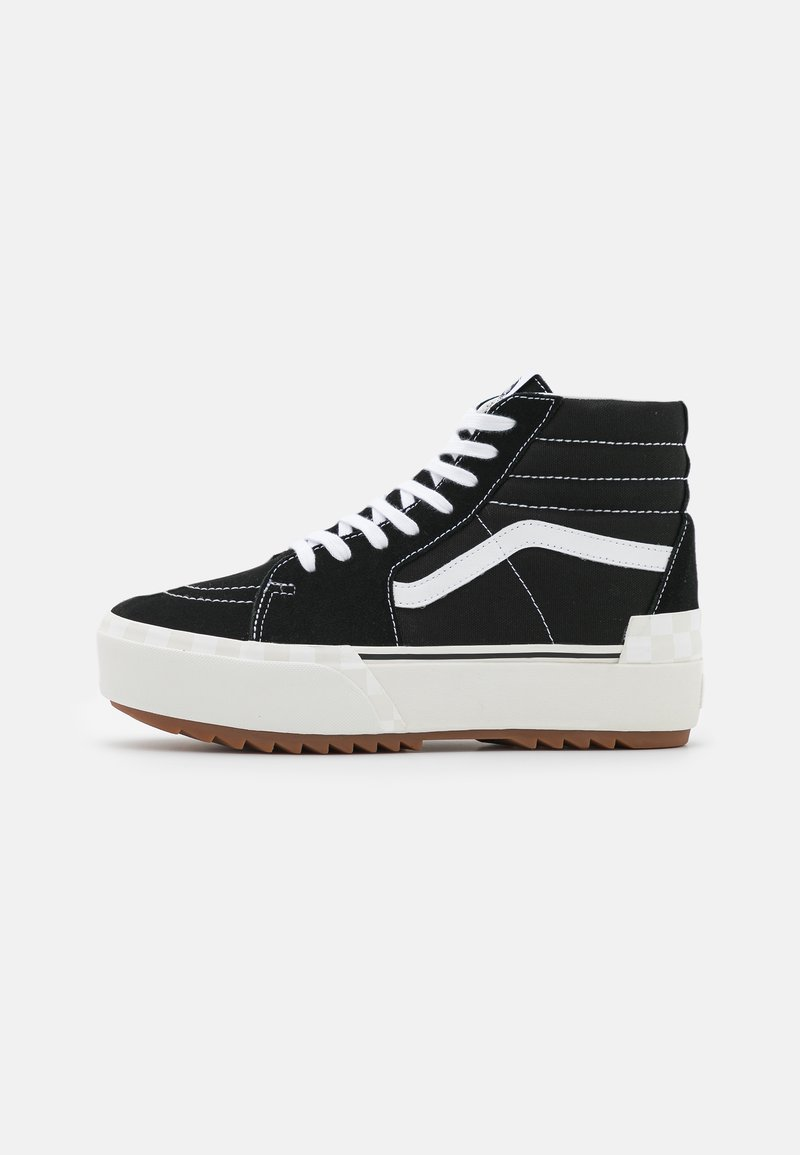 Vans - SK8 STACKED - High-top trainers - black/blanc de blanc