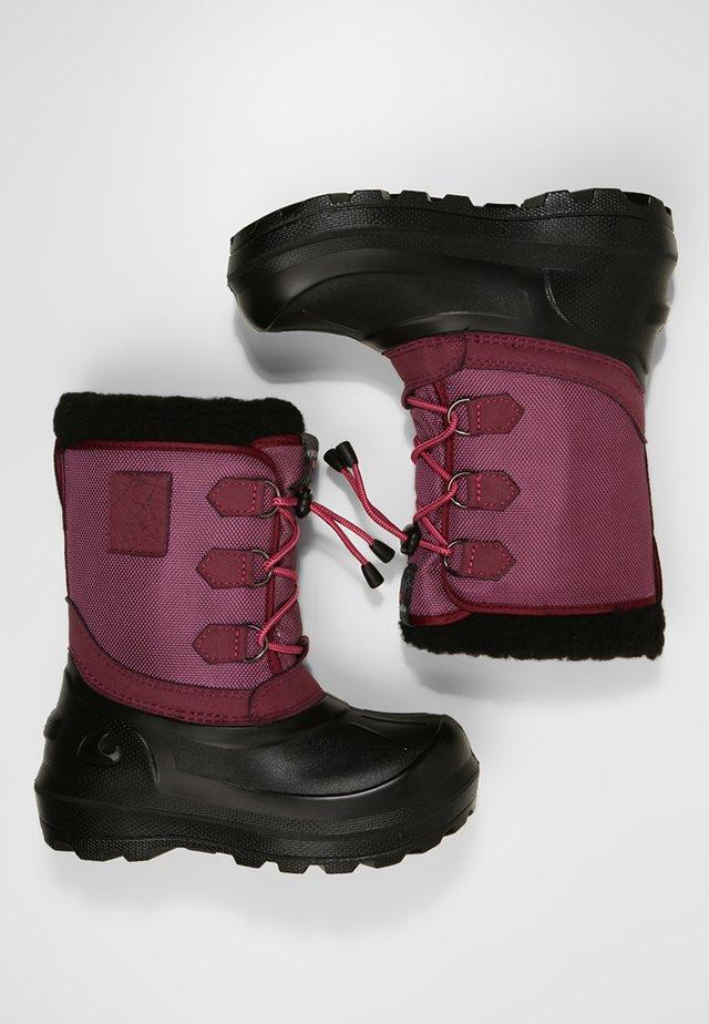 ISTIND - Stivali da neve  - dark pink/black