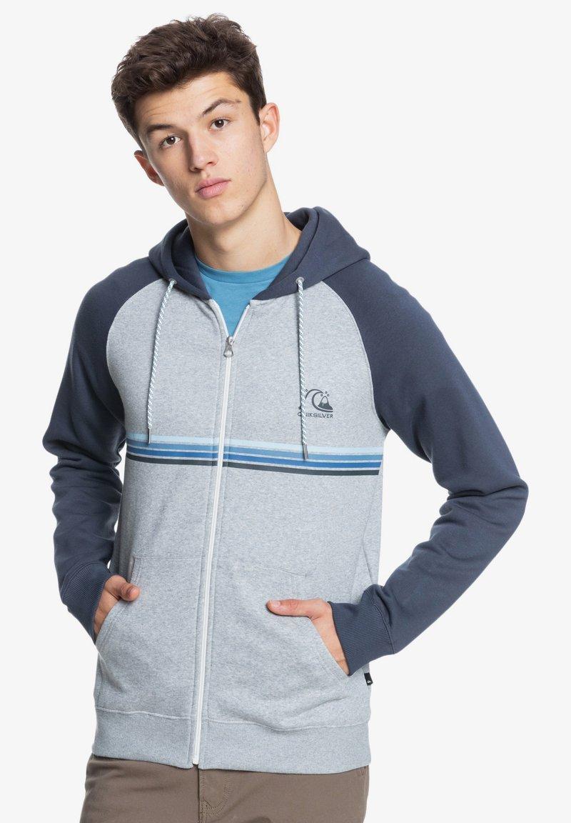 Quiksilver - EVERYDAY - Zip-up sweatshirt - light grey heather