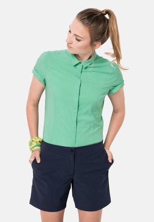 Button-down blouse - pacific green