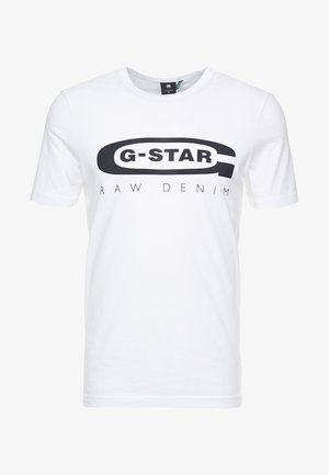 GRAPHIC LOGO SLIM - Print T-shirt - white