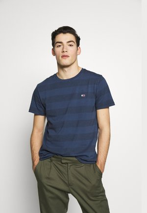 BOLD STRIPE TEE - T-shirt z nadrukiem - twilight navy stripe