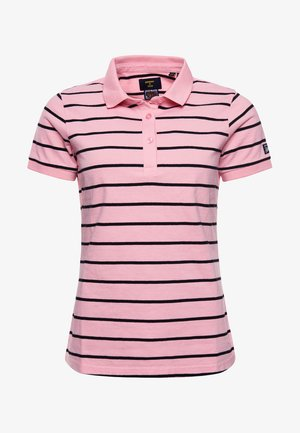 Polo shirt - varisty imperial pink stripe