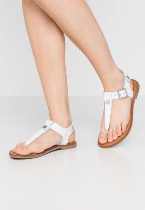 TALLY - T-bar sandals - white