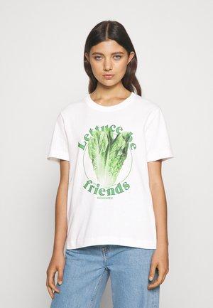 MYSEN LETTUCE - Print T-shirt - off-white