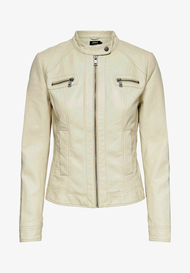 BANDIT BIKER - Giacca in similpelle - pumice stone