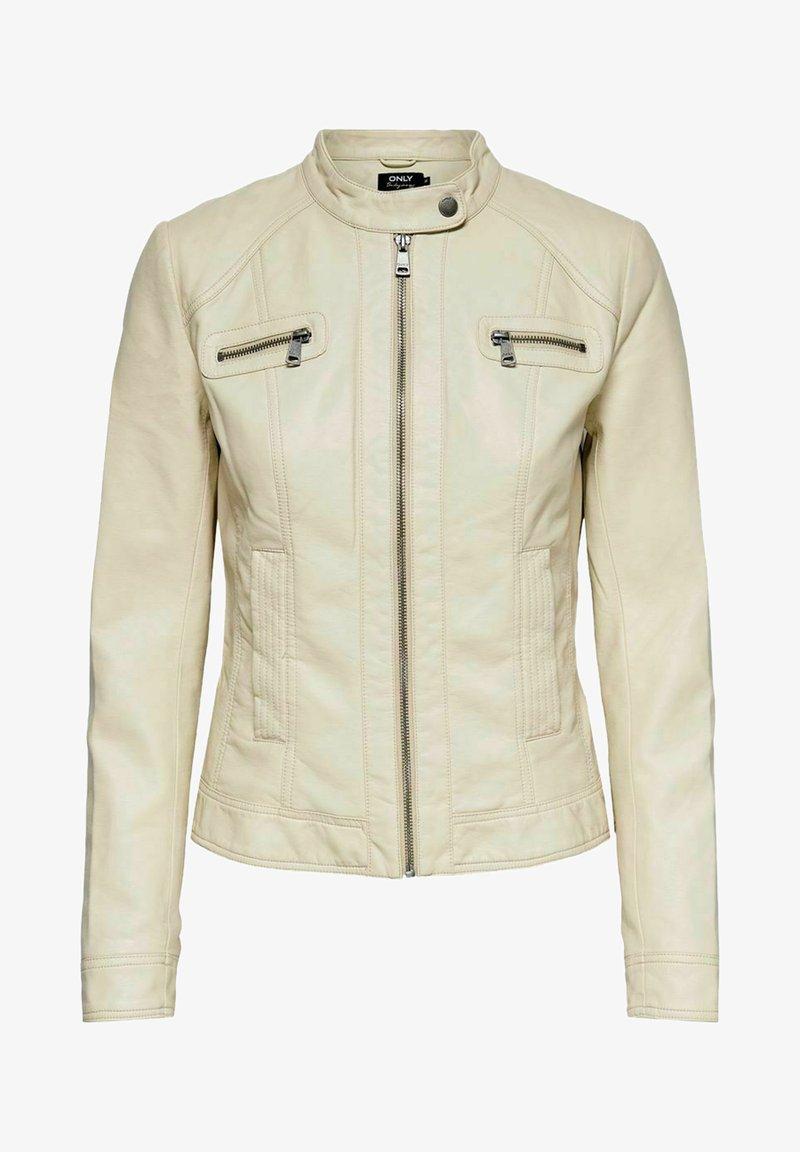 ONLY - ONLBANDIT BIKER - Faux leather jacket - pumice stone