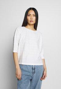 Opus - SARO - Print T-shirt - milk - 0