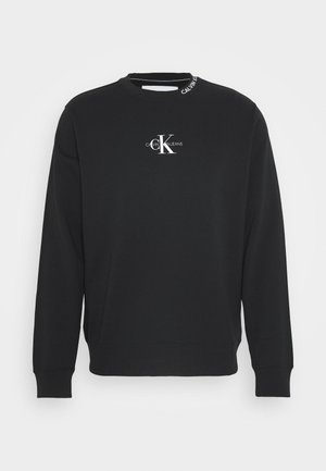 CENTER MONOGRAM CREW NECK - Sweatshirt - black