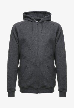 ZIP HOODY - Bluza rozpinana - charcoal