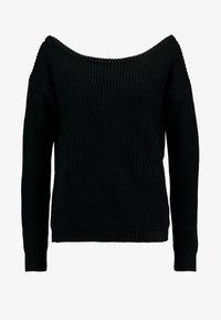 Missguided - OPHELITA OFF SHOULDER JUMPER - Pullover - black - 3
