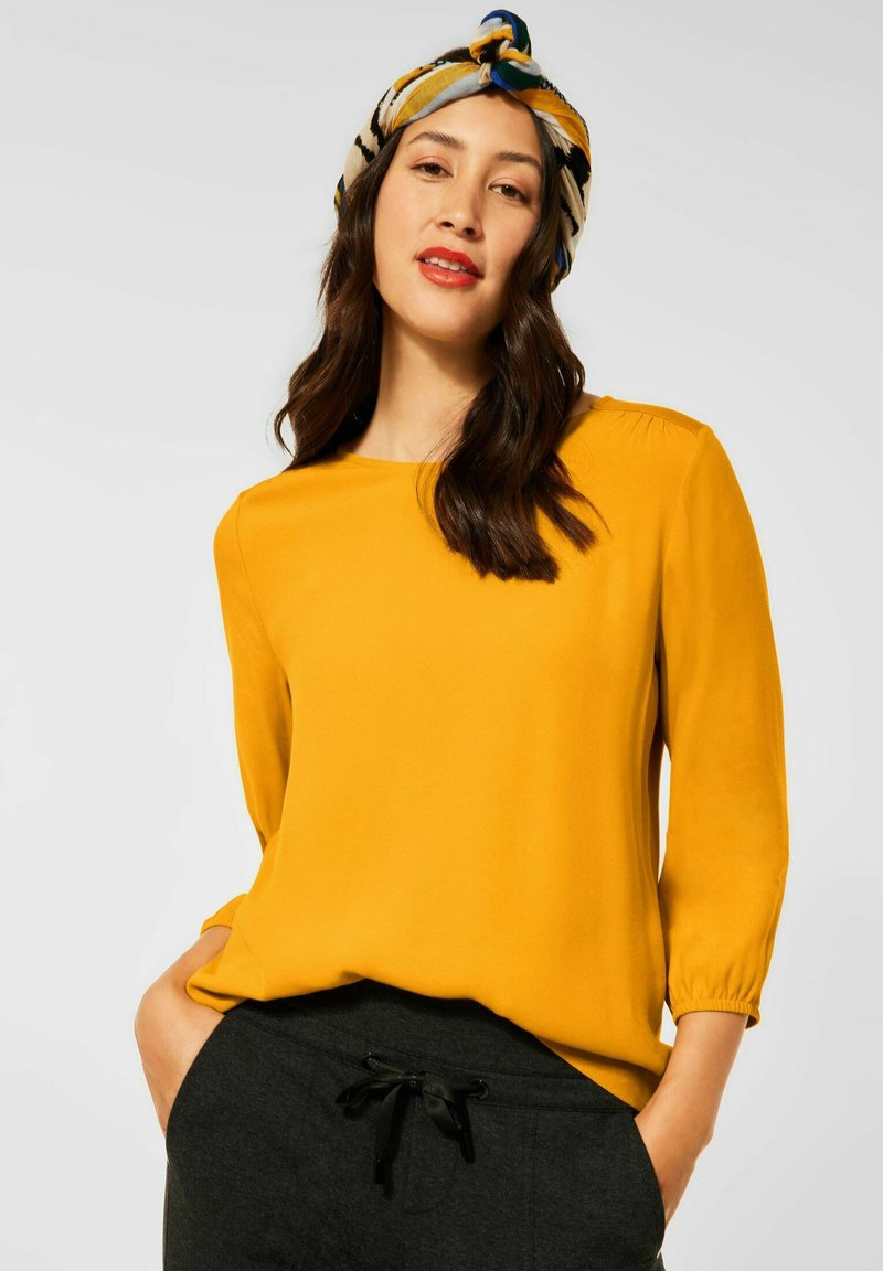 Street One - MIT PUFF - Long sleeved top - gelb
