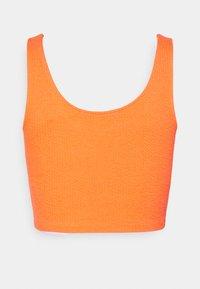 Calvin Klein Jeans - SLUB CROPPED STRAPPY - Top - shocking orange - 1