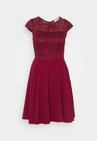 WAL G. - PEYTON SKATER DRESS - Cocktail dress / Party dress - wine - 3