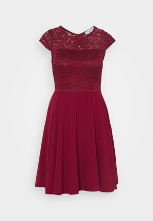 PEYTON SKATER DRESS - Juhlamekko - wine