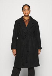Forever New Curve - EMORY WRAP COAT - Classic coat - black - 3