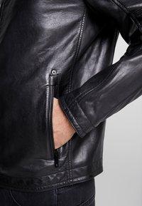 Strellson - BRIXTON - Leather jacket - black - 5