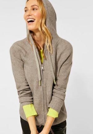MIT ZIPPER - Zip-up hoodie - beige