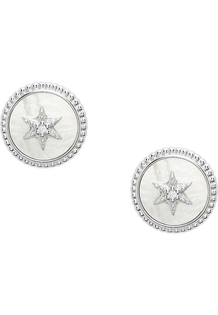 Fossil - FOSSIL DAMEN-OHRSCHMUCK 925ER SILBER - Earrings - silver