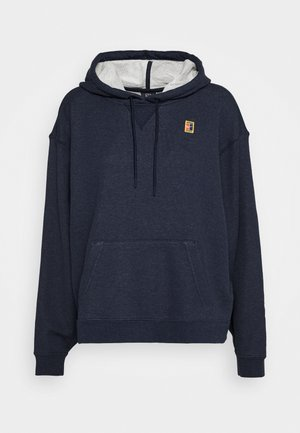 HERITAGE HOODIE - Mikina s kapucí - obsidian heather/white