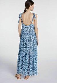 SET - MIT TIE-DYE PRINT - Maxi dress - white blue - 2