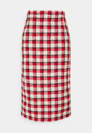 SKIRT - A-line skirt - rosso