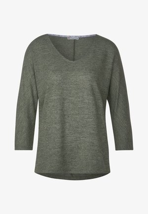 MIT STRUKTUR-OPTIK - Long sleeved top - grün