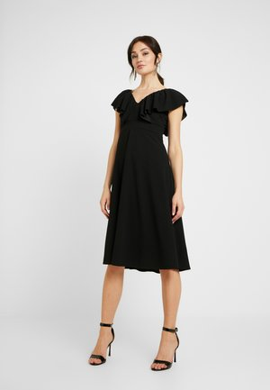 FLUTTER DRESS - Cocktail dress / Party dress - black