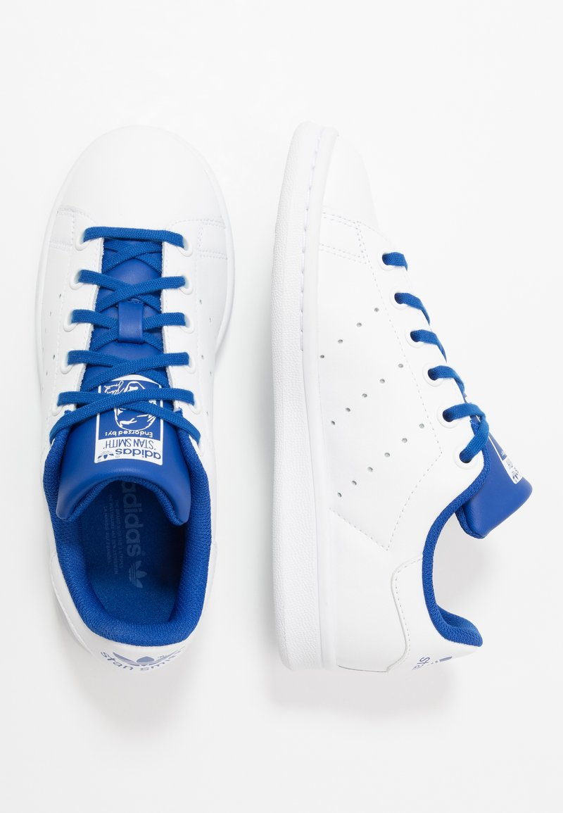 adidas Originals - STAN SMITH - Trainers - footwear white/royal blue