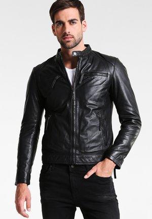 TONIC - Leren jas - black