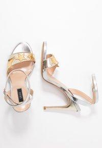 Liu Jo Jeans - CLAIRE - Sandály na vysokém podpatku - light gold/silver - 3