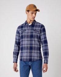 Wrangler - LS 2 POCKET FLAP SHIRT - Shirt - patriot blue - 0