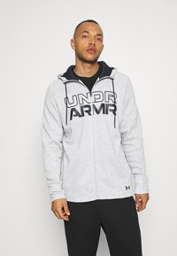 Under Armour - BASELINE FULL ZIP HOODIE - Hættetrøjer - mod gray full heather - 0