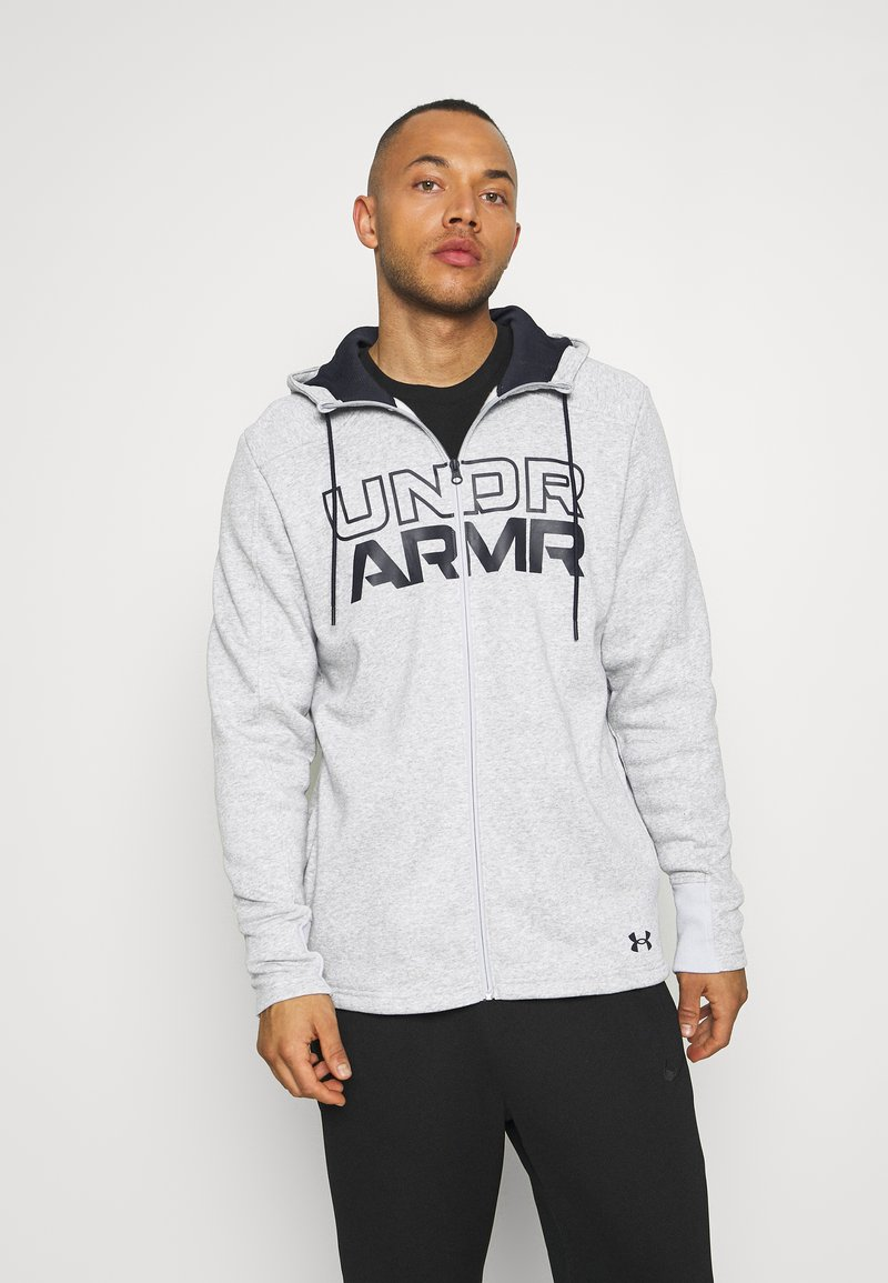 Under Armour - BASELINE FULL ZIP HOODIE - Hættetrøjer - mod gray full heather