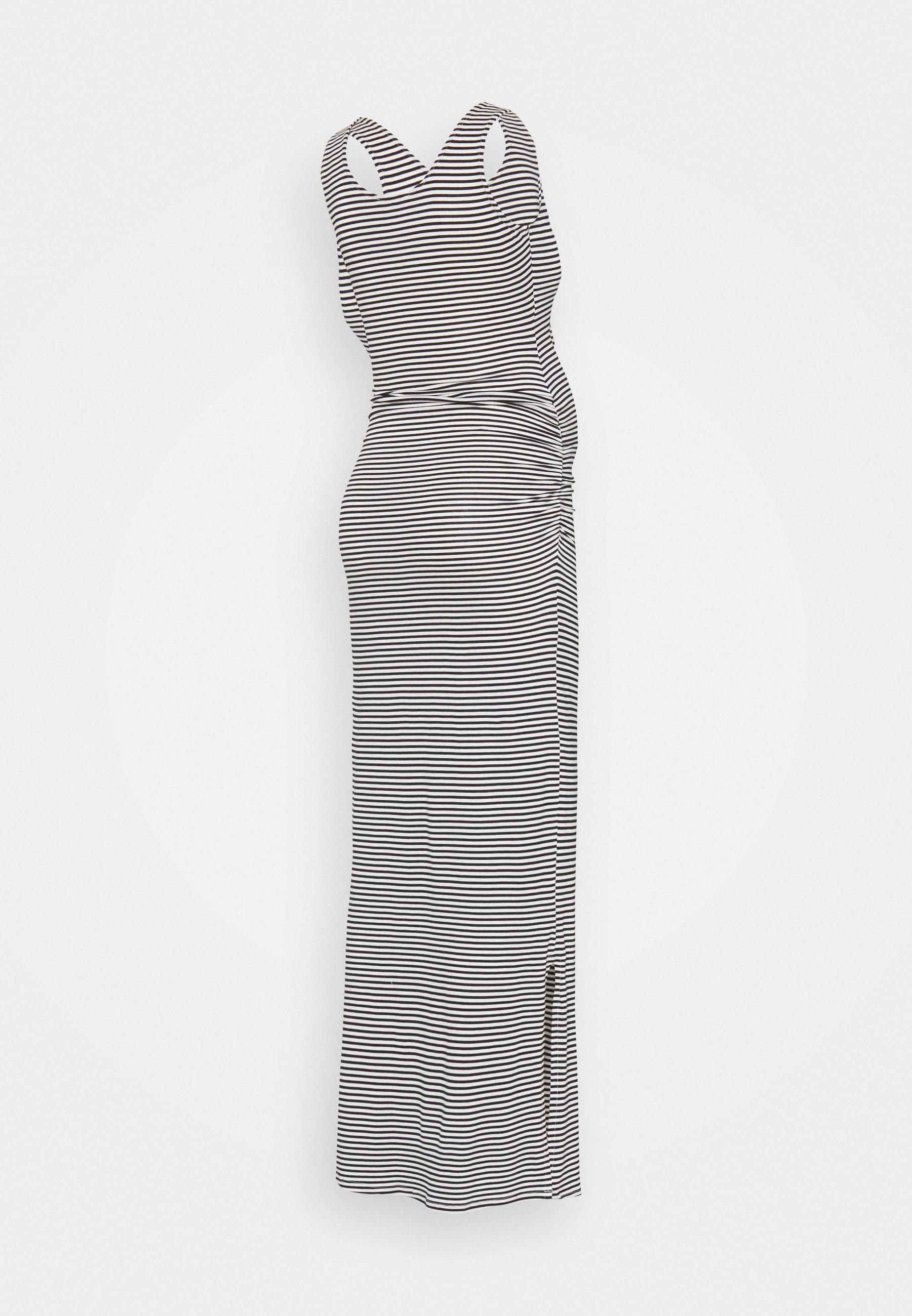 Donna ASSIA TANK - Vestito lungo - navy blue/off white