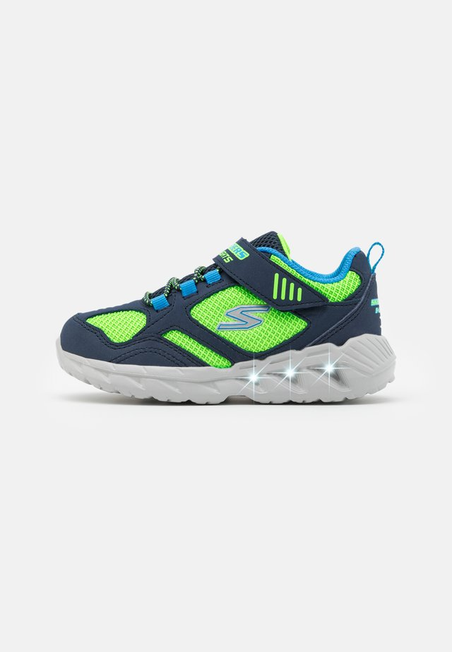 MAGNA LIGHTS - Sneakers basse - navy/lime