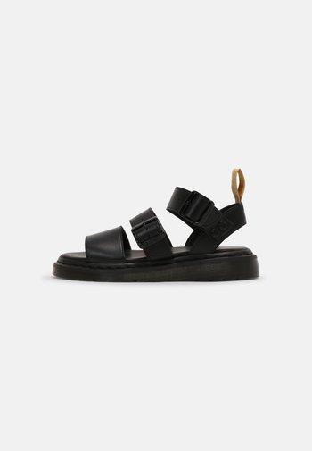 VEGAN GRYPHON UNISEX - Sandaalit nilkkaremmillä - black