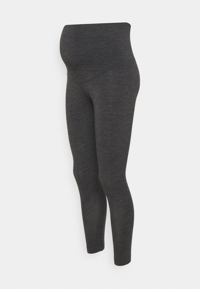 LEGGINGS - Pyjamahousut/-shortsit - dark grey melange