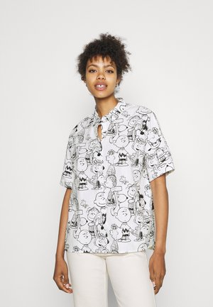 NIBE PEANUTS - Button-down blouse - offwhite