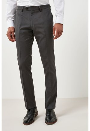 SUIT TROUSERS - Pantaloni eleganti - mottled dark grey