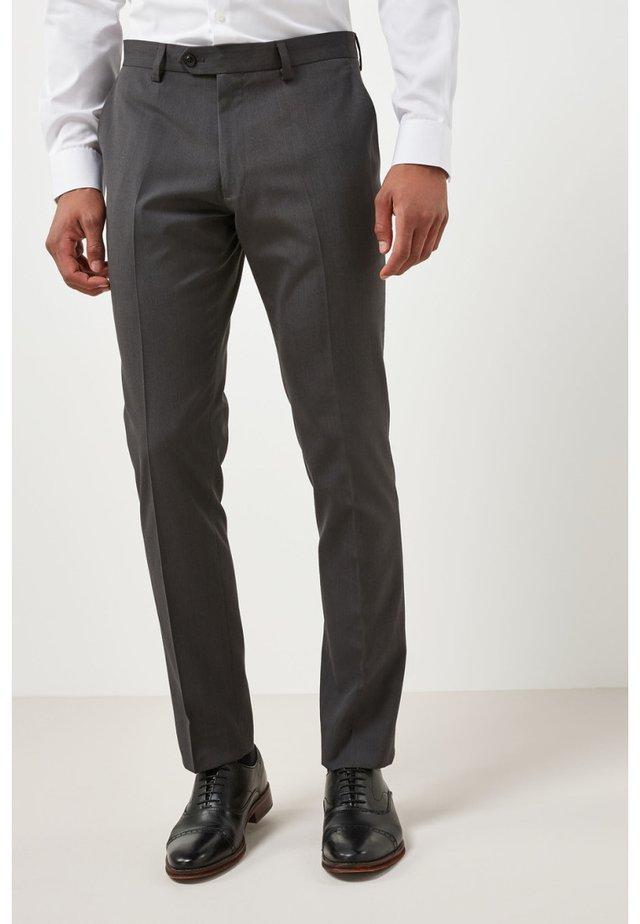 SUIT TROUSERS - Pantalon de costume - mottled dark grey