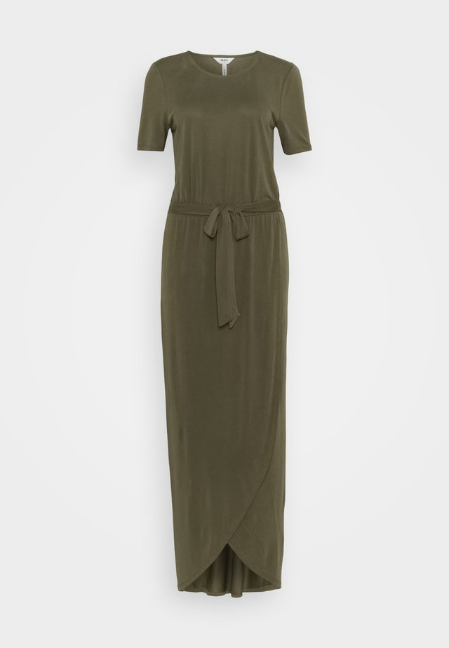 OBJANNIE NADIA DRESS - Maxi-jurk - burnt olive