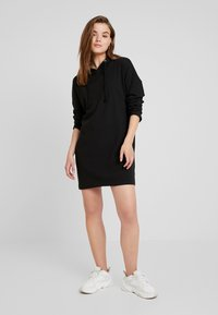 Missguided - HOODIE DRESS - Jersey dress - black - 1
