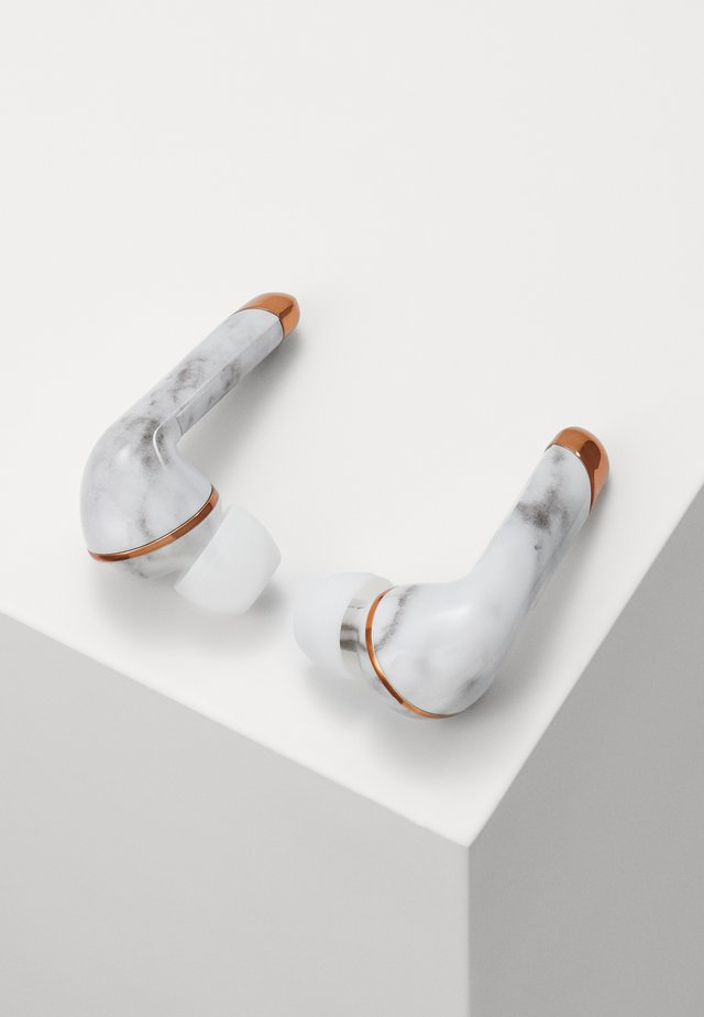 AIR 1 PLUS IN EAR UNISEX - Cuffie - white marble